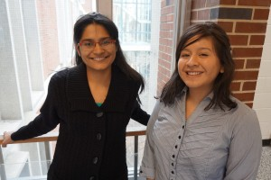 Deeksha Singh (left) and Viviana Guaman (right) have joined the Stillwell Research Group as part of the Researchers Initiative program.