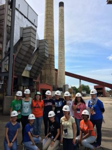 Lauren and the Girls' Adventures in Mathematics, Engineering, and Science Camp at Abbott Power Plant